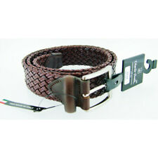 Charles Smith Brown Leather Woven Belt - Size 38 RRP £45
