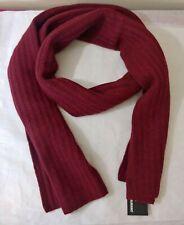 New men's Murano scarf  RED  Rib Knit Merino wool  $58
