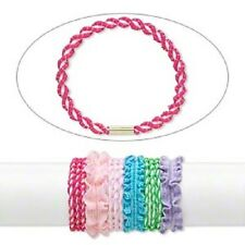 3734JE Hair Tie Ponytail Holder mix twist stretch fabric, assorted colors 12 Qty