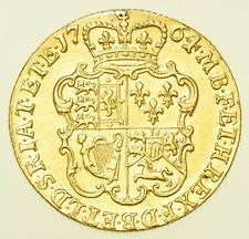 More details for very rare 1764 george iii guinea, 2nd head, british gold coin gvf
