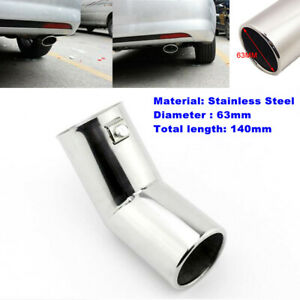 "1PCS 63MM 2.5"" Dia Auto Car Stainless Steel Rear Round Muffler Tail Exhaust Pipe"