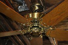 "Restored Vintage Casablanca Delta II Bright Brass 50"" Ceiling Fan Made in USA!"
