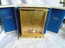 JAEGER LECOULTRE EMBASSY ATMOS VII CLOCK 528/1 1969 FULLY SERVICED W/PRES CASE