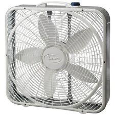 Lasko 20-Inch Premium Box Fan 3-Speed - White, 3723
