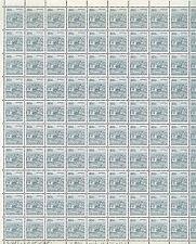 YUGOSLAVIA: FULL SHEET OF 100 x 8 DINARS STAMPS 1981, SCOTT #1491a CV$100
