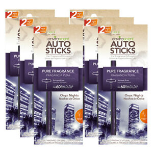 Enviroscents Auto Stick Car Air Fresheners, 6-Packs with 12 Sticks (Onyx Nights)
