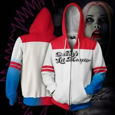 Harley Quinn Pullover Suicide Squad Hoodie Anime Jacket Cosplay Sweatshirt Coat