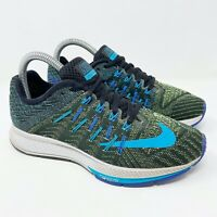 Nike Zoom Elite 8 Blue Green Black Lace Up Running Shoes Women's Size 6