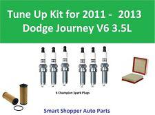 Tune Up for 2011 2012 2013 Dodge Journey V6 Spark Plugs, Air Filter, Oil Filter