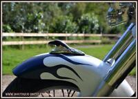 Tête d'Aigle Chrome & Noir d'ornement pour garde boue NEUF ( moto custom trike )