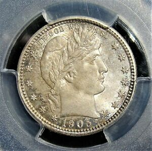 1905 25 Cents / Quarter MS65 PCGS.
