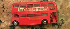 Dinky #289 Esso Safety Grip Tyres Routemaster Double Decker Bus 1968 Very Good
