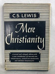 Mere Christianity by C.S. Lewis Rare Early Edition Hardcover With Dust Jacket