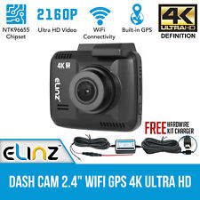 Dash Cam Car Video Camera recorder 2160P WIFI GPS HDMI 150° Novatek 4K Ultra HD