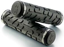 JetBlack Rivet MTB Locking Handlebar Grips Bike Lock-On Grip Jet BLACK