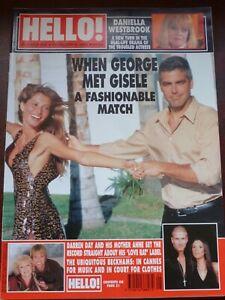 HELLO! MAGAZINE # 648 / 2001 FEB 6 / WHEN GEORGE MET GISELE / DARREN DAY