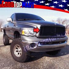 For Dodge RAM 1500 2002-2004 2005 STEEL Black Main Mesh Grille Rivet OVERLAY 1PC