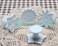 Kitchen Bake Ware Plastic Pastry Sunflower Mould Snowflake Cookies Sugarcraft