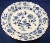 Antique 19thC Meissen Porcelain Blue Onion Plate Porzellan Teller German Germany