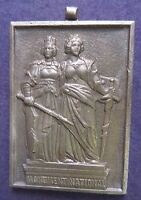 Vintage Metal Medal LADY ARMY PAUL kramer Nauchatel IMPRINT MONUMENT NATIONAL