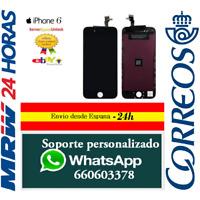 Pantalla Completa para Iphone 6 Negra Negro Tactil Digitalizador + LCD + Marco