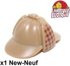 Lego 1x Hut Hut Mütze Detektiv sherlock beige f/dark hellbraun 95319pb01 neu
