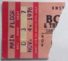 Bob Seger Jackie Lomax Original Genuine Used Concert Ticket Santa Monica 1976