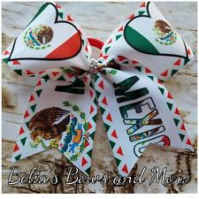 I LOVE Mexico...Mexican Princess Handmade Cheer style Hair Bow