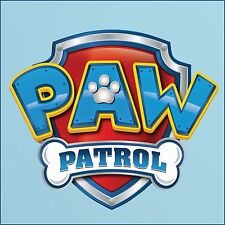 Small Paw Patrol Logo cut vinyl wall sticker Poster A4 Easy to Transfer Decal