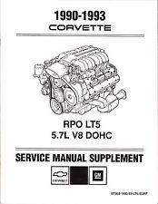 1990-1993 Chevrolet Corvette LT5 5.7L Engine Service Repair Manual Supplement
