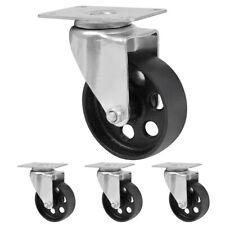 4x Swivel Caster Wheels Top Steel Plate Amp Bearing Casters 3 Heavy Duty 440lbs