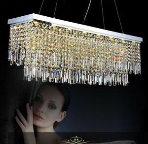 Creative personality restaurant rectangular k9 crystal chandelier LED lamps#0051
