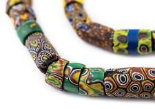 Antique Venetian Millefiori African Trade Beads Value Strand 10mm Ghana Cylinder