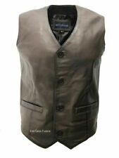Mens 5226 Brown Made from 100% Soft Leather For any Occasion Classic Waistcoat