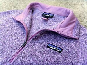 PATAGONIA Better Sweater Pullover Fleece Jacket women's Sz Large HAZY PURPLE
