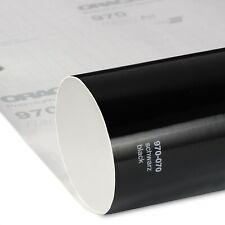 16€/m² Oracal 970RA Schwarz Glanz 070 Autofolie gegossen Luftkanal Folie