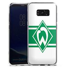 Samsung Galaxy S8 Plus Silikon Hülle Case - Werder Stripes white
