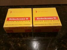 Vintage 2 Rolls Kodachrome II Double 8mm Color Movie Film Daylight 25ft Sealed