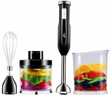 Powerful 4-In-1 Hand Blender Set Immersion Food Mixer Chopper Whisk Shaft Stick