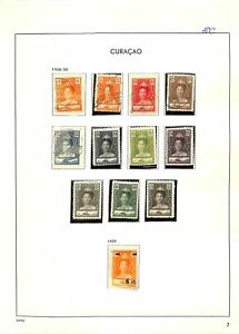 [OP5325] Dutch Colonies lot of stamps on 12 pages