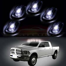 5pcs Clear Led Cab Roof Marker Running Light & Free Blub For Dodge Ram 2500 3500