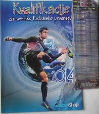 Qualification for World Cup 2014 Road to Brazil - Empty album + complete set