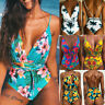 New Womens Floral One Piece Swimsuit Push-up Padded Bikini Swimwear Bathing Suit
