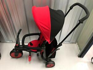 SmarTrike STR 3 Plus 6 in 1 Folding Trike - Red/black