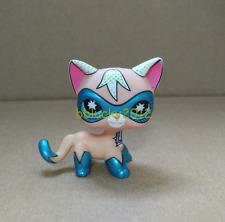LPS Super Hero cat littlest pet shop toy kitty Comic Con Msaked Shorthair Kitten