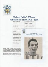 MIKE O'GRADY HUDDERSFIELD TOWN 1959-1966 ORIGINAL HAND SIGNED MAGAZINE CUTTING