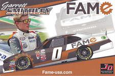 "2018 GARRETT SMITHLEY ""FAME USA"" #0 NASCAR XFINITY SERIES HERO CARD POSTCARD"