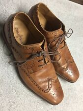 Cole Haan Mens Brown Leather Oxford Wing Tips Dress Shoes Size Sz 12 Medium Med