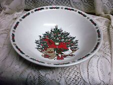"Ten Strawberry Street O Christmas Tree Holiday serving bowl  9"" VEGETABLE BOWL"