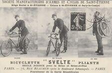 CPA REPRODUCTION BICYCLETTE SVELTE PLIANTE Manufacture Saint-Etienne